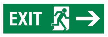 Rescue signs icon exit emergency exit figure door