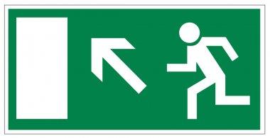 Rescue signs icon exit emergency exit figure door