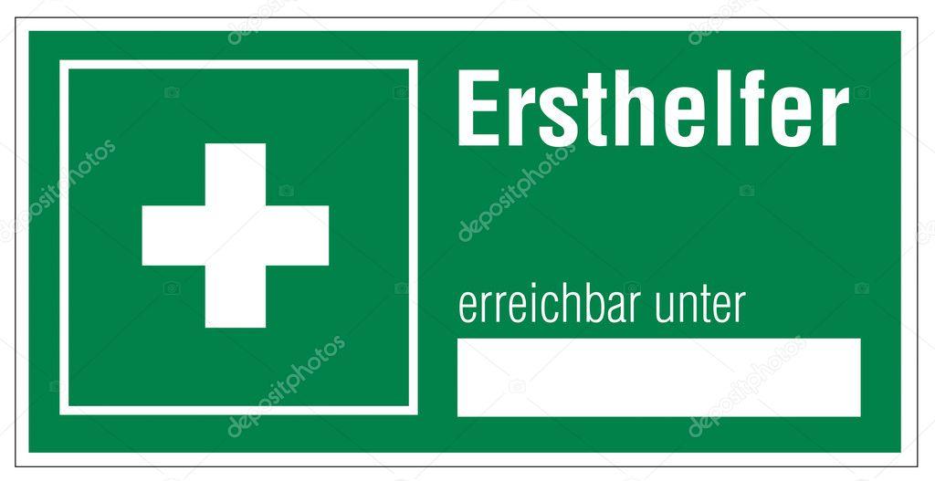 Erste hilfe symbol  Zeichen Symbol Ausfahrt Notfall erste-Hilfe-Koffer Kreuz Hilfe ...