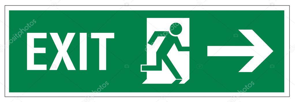 Porte De La Figure De Sauvetage Signes Icône Sortie Issue De Secours - Porte de secours