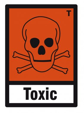 Safety sign danger sign hazardous chemical chemistry toxic skull
