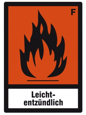 Safety sign danger sign hazardous chemical chemistry extremely flammable