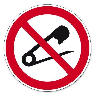 Prohibition signs BGV icon pictogram No needles prick tailor