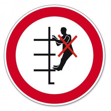 Prohibition signs BGV icon pictogram shelving board prohibited