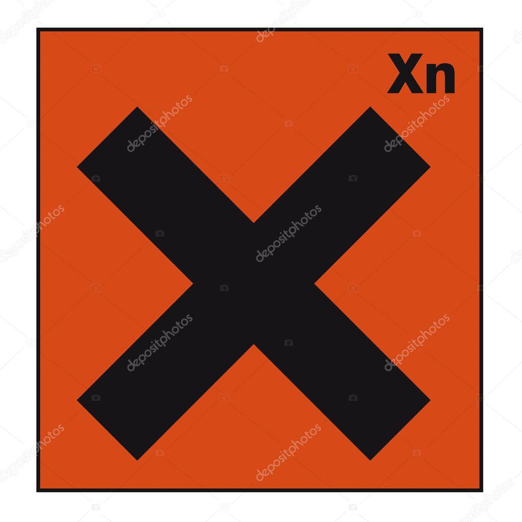 Safety Sign Danger Sign Hazardous Chemical Chemistry Cross Stock