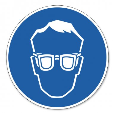 Commanded sign safety sign pictogram occupational safety sign Wear eye protection