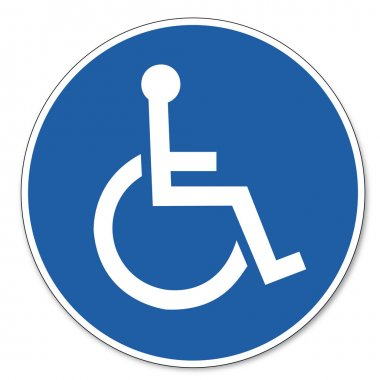 Commanded sign safety sign pictogram occupational safety sign for Wheelchairs users