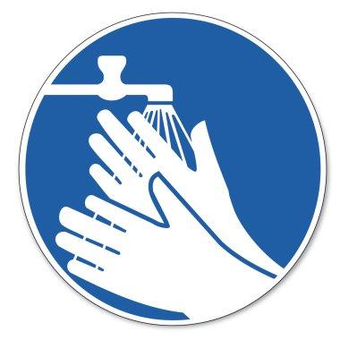 Commanded sign safety sign pictogram occupational safety sign wash hands