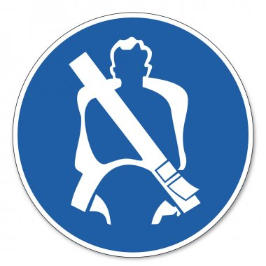 Commanded sign safety sign pictogram occupational safety sign seat belt apply