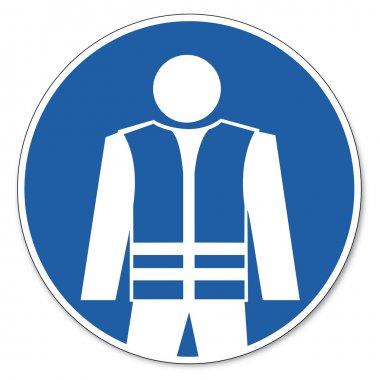 Commanded sign safety sign pictogram occupational safety sign warning safety vest