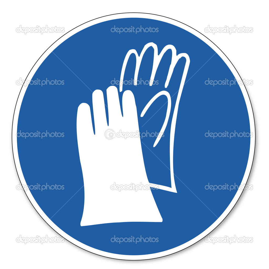 Commanded sign safety sign pictogram occupational safety sign hand commanded sign safety sign pictogram occupational safety sign hand protection must be worn stock vector biocorpaavc