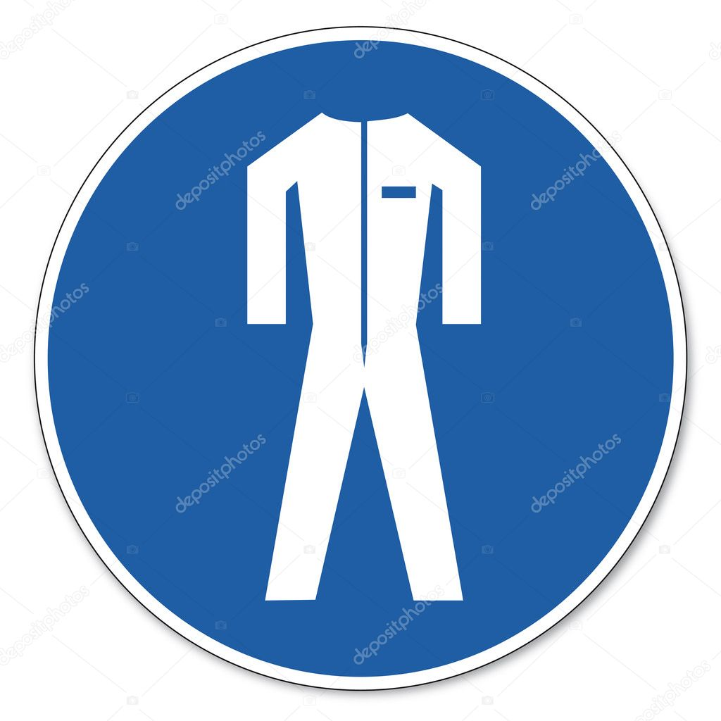 Commanded sign safety sign pictogram occupational safety sign Use protective clothing