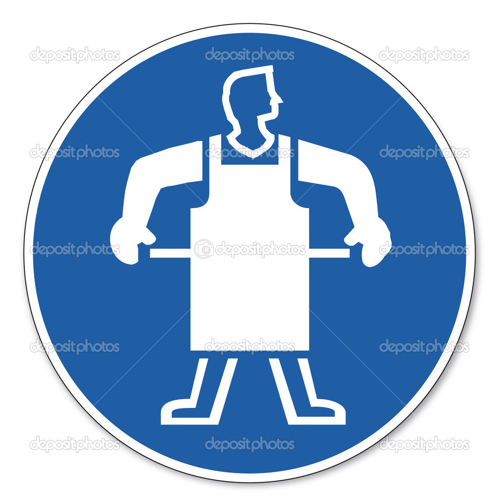Respectfully stock vectors royalty free respectfully commanded sign safety sign pictogram occupational safety sign use protective apron royalty free stock vectors biocorpaavc