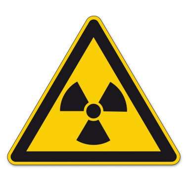 Safety signs warning triangle sign BGV vector pictogram icon radioactive nuclear radiation