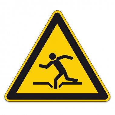 Safety signs warning triangle sign BGV vector pictogram icon burglary danger dive hole