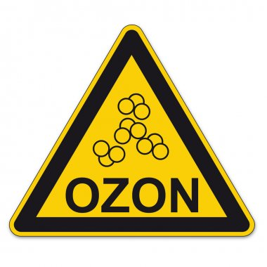 Safety sign triangle warning triangle sign BGV unit vector pictogram icon ozone layer generated