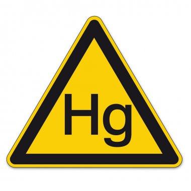 Safety signs warning warndreieck BGV A8 triangle sign vector pictogram icon mercury