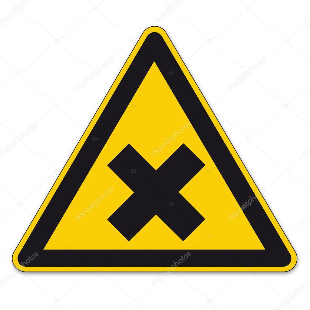 edge yellow caution sign -