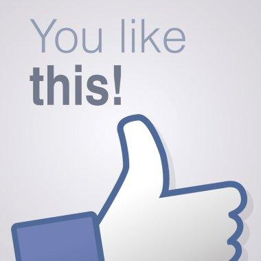 Face symbol hand i like fan fanpage social voting dislike network book You like this