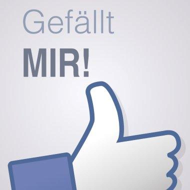 Face symbol hand i like fan fanpage social voting dislike network book Gefällt mir
