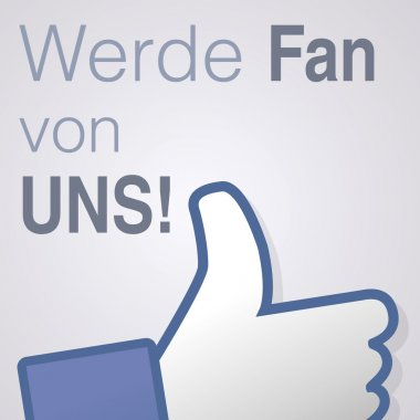 Face symbol hand i like fan fanpage social voting dislike network book Werde fan von uns