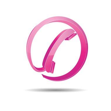 Contact circle phone hotline kontaktfomular callcenter call pictogram sign symbol telephone