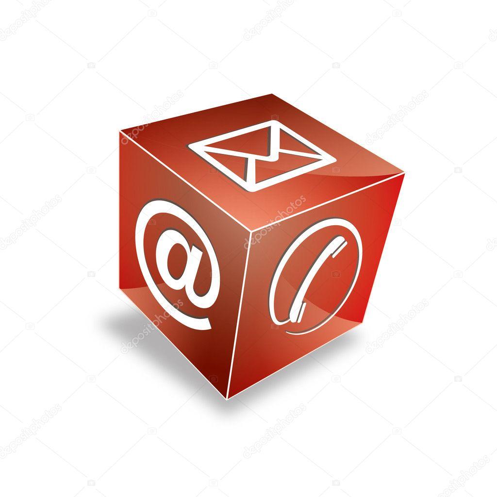 contact 3d cube t l phone au courriel e mail hotline kontaktfomular callcenter appel pictogramme. Black Bedroom Furniture Sets. Home Design Ideas