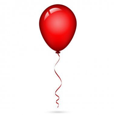 Vector illustration of red balloon with ribbon stock vector
