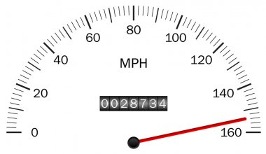 Vector illustration of a speedometer
