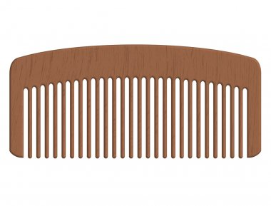 Vector illustration of wooden comb