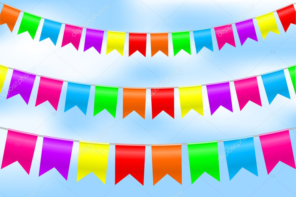 Vector - illustration of colorful bunting