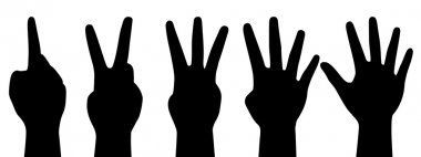 Vector illustration of counting hands