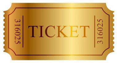 Vector illustration of gold ticket stock vector
