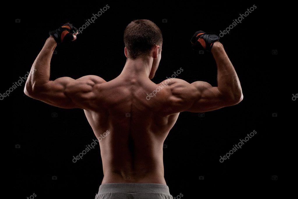 Muscular naked man from back — Stock Photo © doodko #15929941