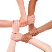 Kéz gyűrűs csapatmunka