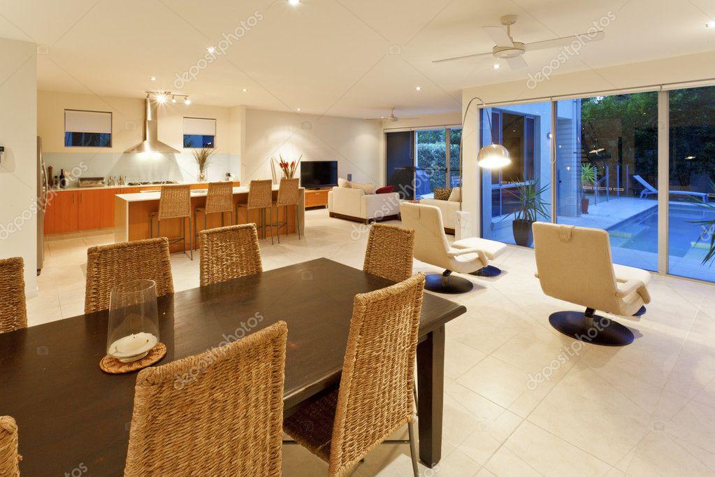 moderne Küche, Ess- und Wohnzimmer — Stockfoto © zstockphotos #11345297