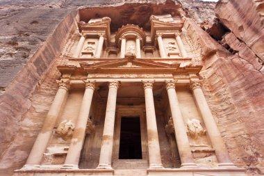 The Treasury in Petra - the famous temple of Indiana Jones in Jordan