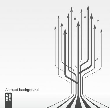 Abstract background with vector growth arrows