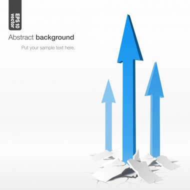 Growth arrows - success concept. Vector abstract background.