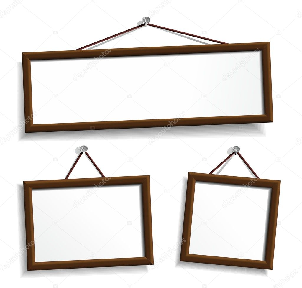 empty frames for your presentation stock vector 11221972