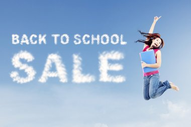 Back to school sale concept