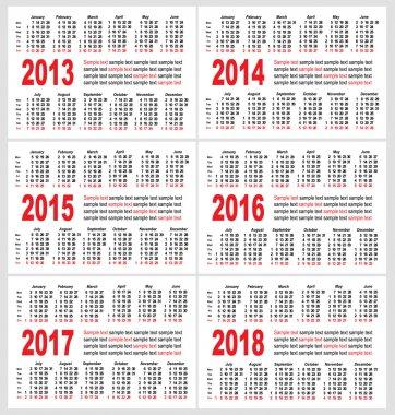 Calendar grid pocket vector, set