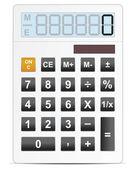bílý Elektronický kalkulátor vektorové ilustrace