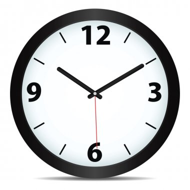 Vector mechanical clock stock vector