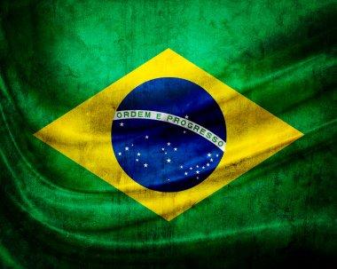 Grunge flag Brazil