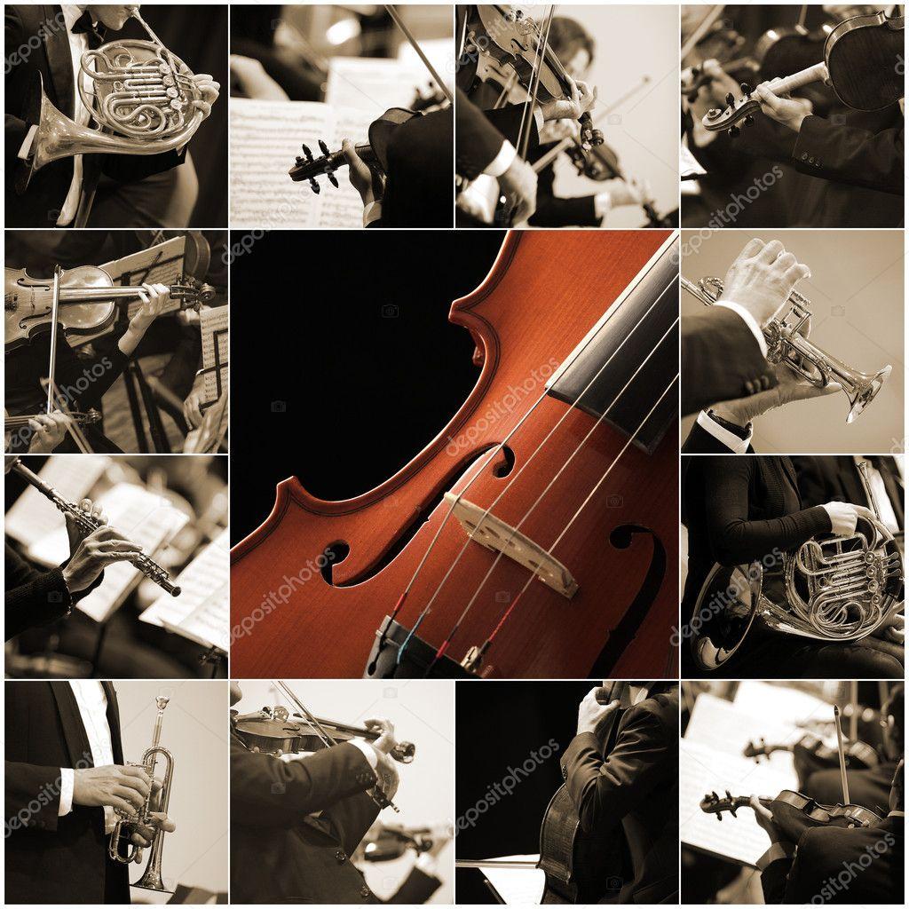Colagem de m sica cl ssica fotografias de stock for Musica classica
