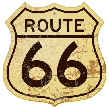 Vintage roadsign illustration full of rust and scratches clip art vector