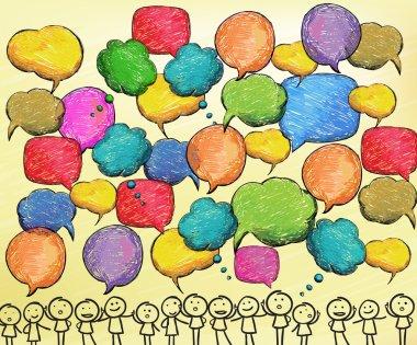 Hand drawn bubbles