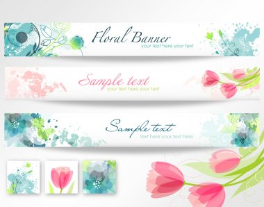 Beautiful floral headers