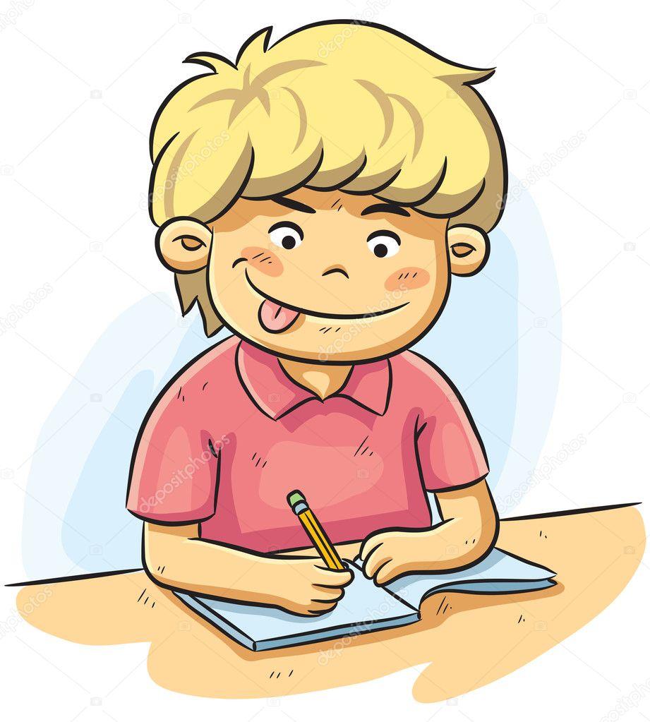Niño Estudiando Archivo Imágenes Vectoriales H4nk 11636001